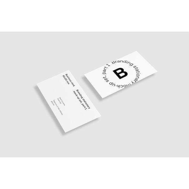 Dois, negócio, cartão, branca, fundo, maquete, cima Psd grátis