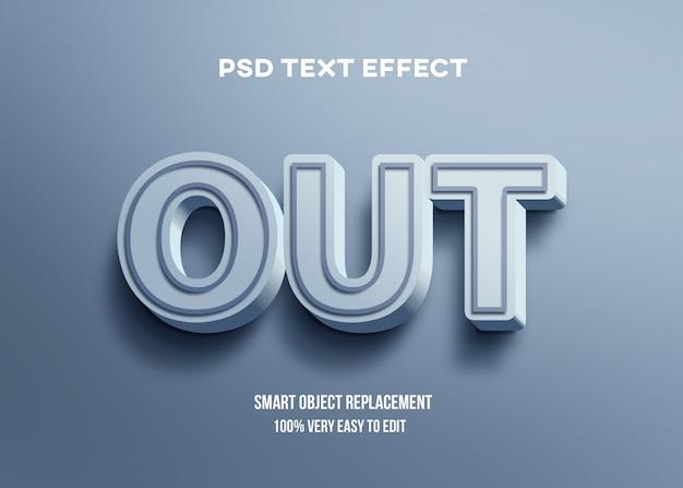 Efeito 3d azul brilhante texto Psd Premium