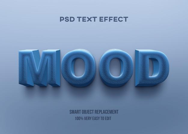 Efeito 3d forte texto em negrito azul Psd Premium