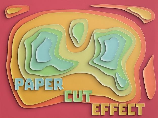 Efeito de corte de papel totalmente personalizável Psd grátis