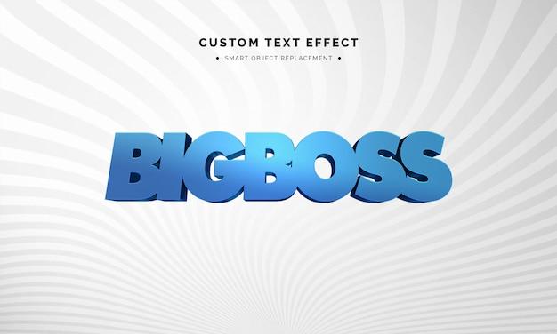 Efeito de estilo de texto 3d azul Psd Premium