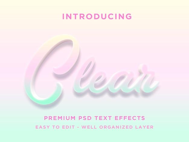 Efeito de estilo de texto 3d claro psd premium Psd Premium