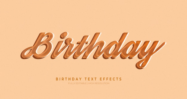 Efeito de estilo de texto 3d de aniversário Psd Premium
