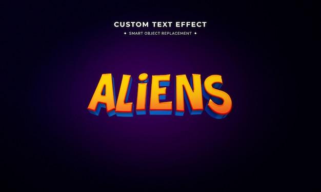 Efeito de estilo de texto 3d de filme de animação Psd Premium