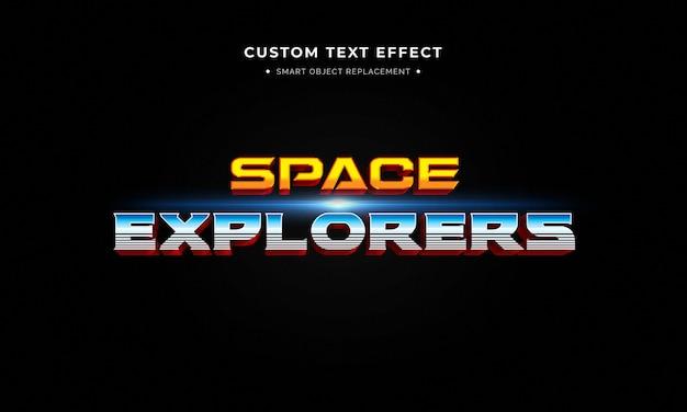 Efeito de estilo de texto 3d de filme de super-herói Psd Premium