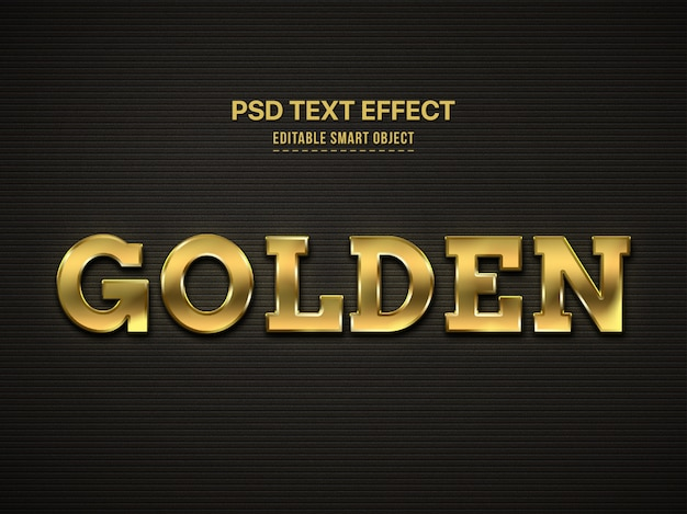 Efeito de estilo de texto 3d dourado Psd grátis