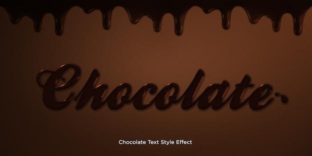Efeito de estilo de texto de chocolate Psd Premium