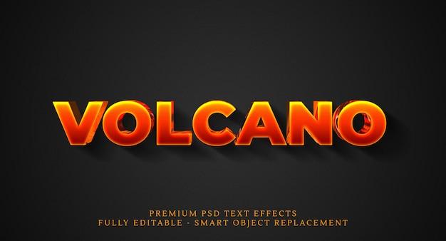Efeito de estilo de texto de vulcão psd, efeitos de texto psd premium Psd Premium