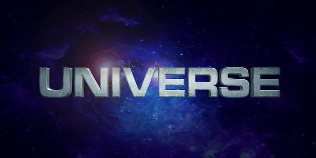 Efeito de estilo de texto do universo Psd Premium