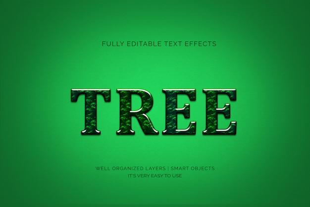 Efeito de estilo de texto em árvore Psd Premium