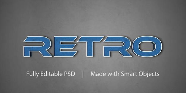 Efeito de estilo de texto retrô Psd Premium