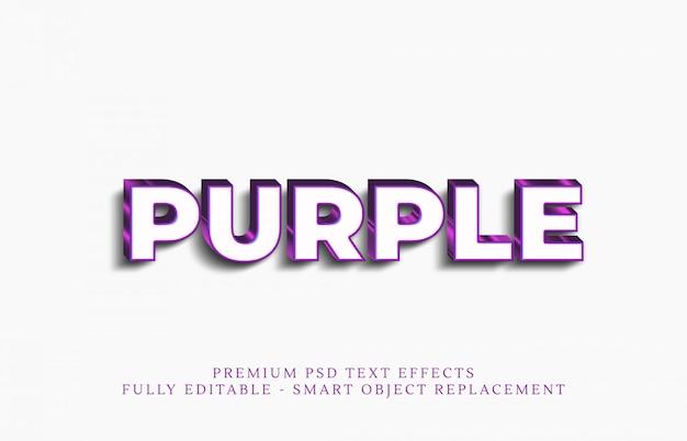 Efeito de estilo de texto roxo Psd Premium
