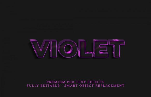 Efeito de estilo de texto violeta claro psd, efeitos de texto psd premium Psd Premium