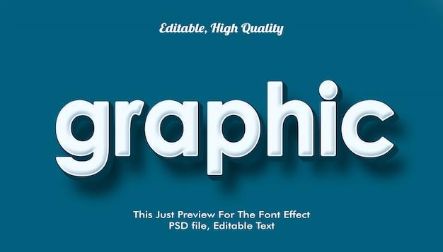 Efeito de fonte na moda com estilo gráfico e moderno em 3d Psd Premium