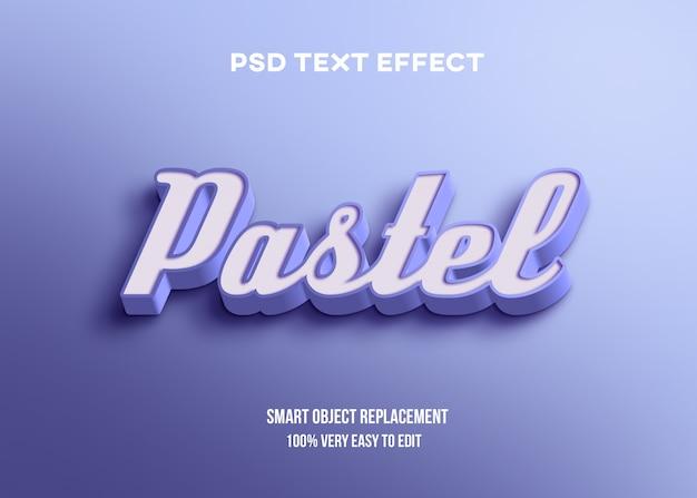 Efeito de texto 3d azul pastel Psd Premium