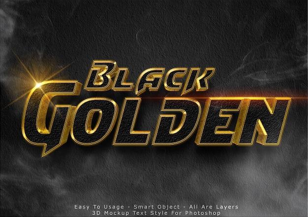 Efeito de texto 3d modelo glitter preto Psd Premium