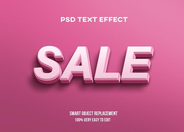 Efeito de texto 3d rosa Psd Premium