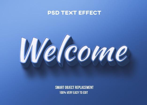 Efeito de texto azul branco 3d Psd Premium