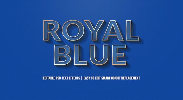 Efeito de texto azul royal premium psd Psd Premium