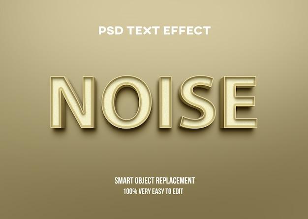 Efeito de texto brilhante 3d amarelo Psd Premium