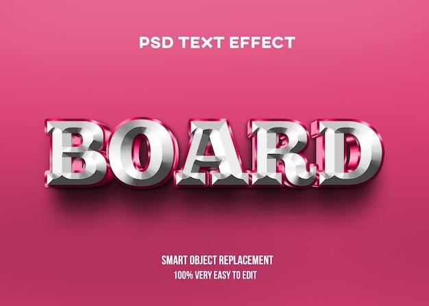 Efeito de texto brilhante branco vermelho Psd Premium