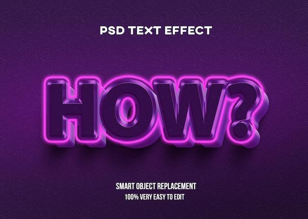 Efeito de texto brilhante e brilhante de alumínio rosa Psd Premium