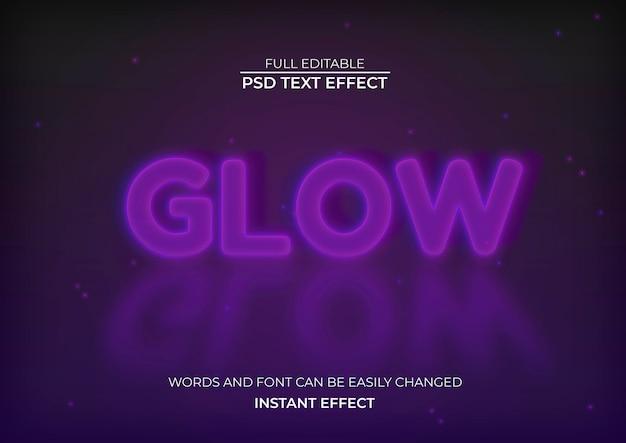 Efeito de texto brilhante Psd grátis