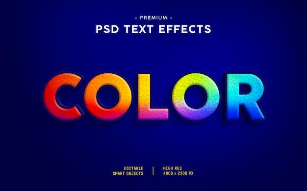 Efeito de texto colorido Psd Premium