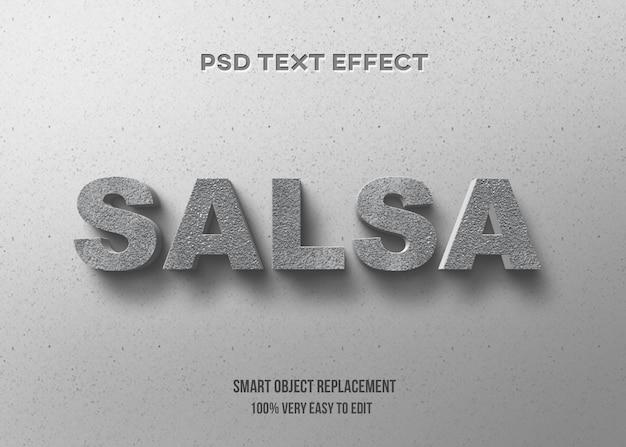 Efeito de texto concreto 3d Psd Premium
