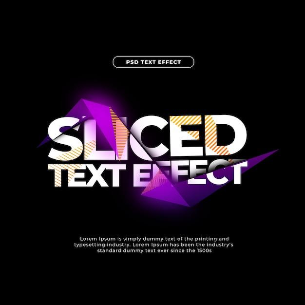 Efeito de texto cortado Psd grátis