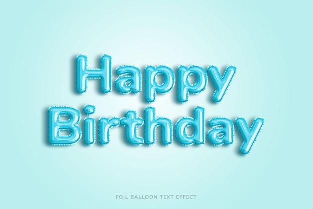 Efeito de texto de balão de feliz aniversário Psd Premium