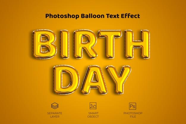 Efeito de texto de balão do photoshop Psd Premium