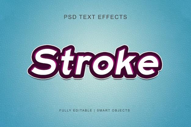 Efeito de texto de estilo gráfico de traçado Psd Premium