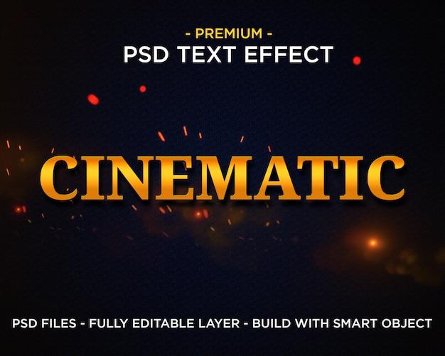 Efeito de texto de estilos cinematográficos gold premium photoshop psd Psd Premium