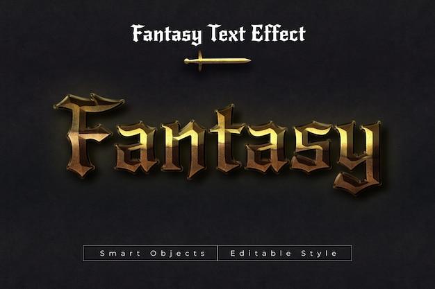 Efeito de texto de fantasia Psd Premium