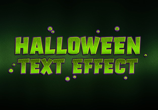 Efeito de texto de halloween mockup Psd Premium