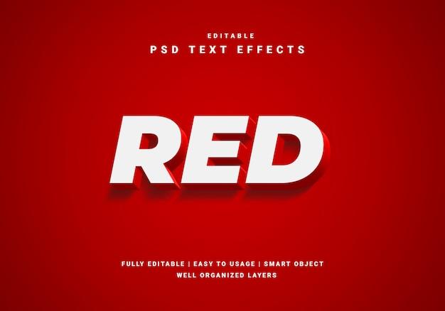 Efeito de texto de luxo vermelho Psd Premium