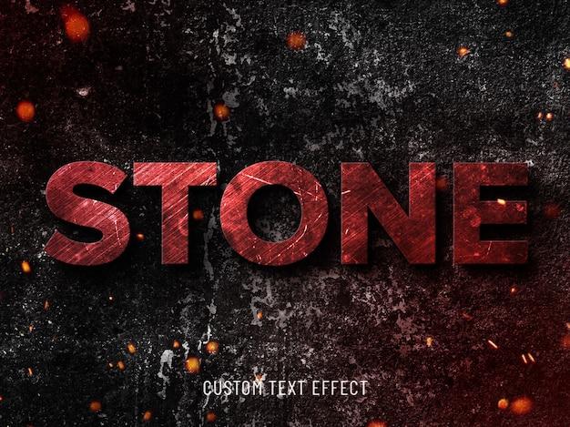 Efeito de texto de pedra grunge Psd Premium