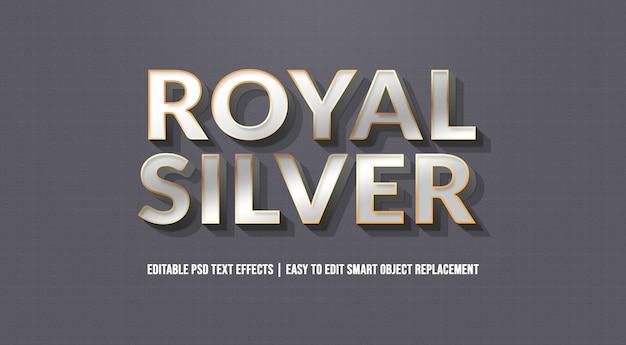 Efeito de texto de prata real premium psd Psd Premium