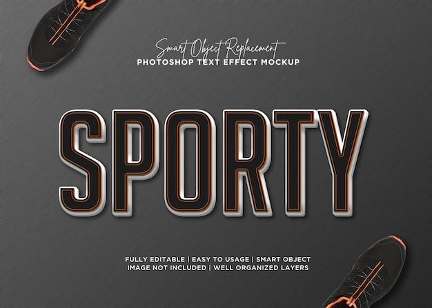 Efeito de texto desportivo de estilo 3d Psd Premium