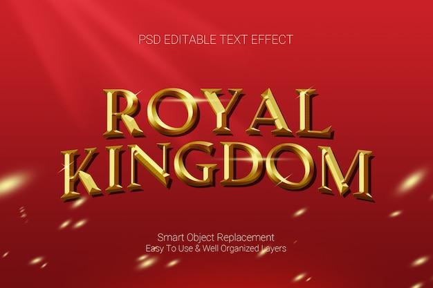 Efeito de texto do reino real Psd Premium