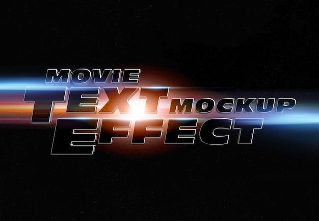 Efeito de texto do trailer do filme maquete Psd Premium