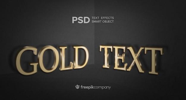 Efeito de texto dourado em fundo escuro Psd grátis