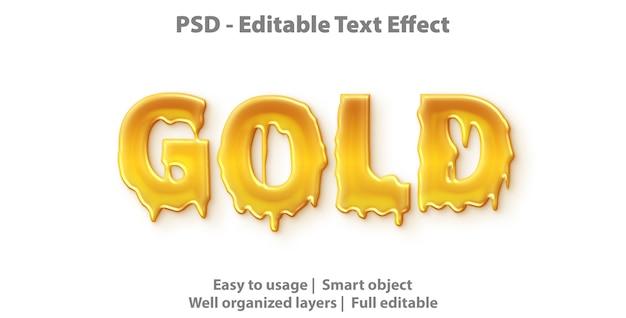 Efeito de texto editável dourado Psd Premium