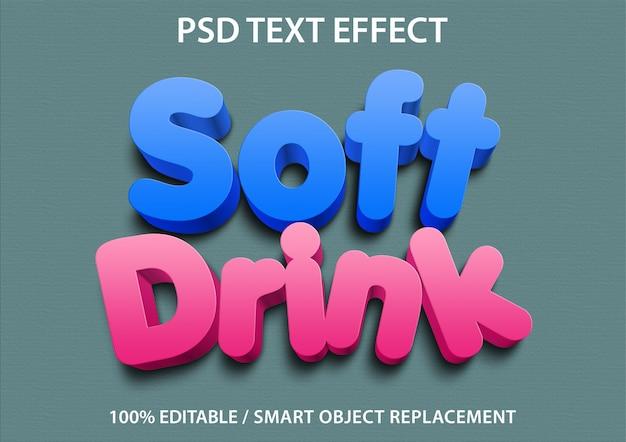 Efeito de texto editável refrigerante Psd Premium