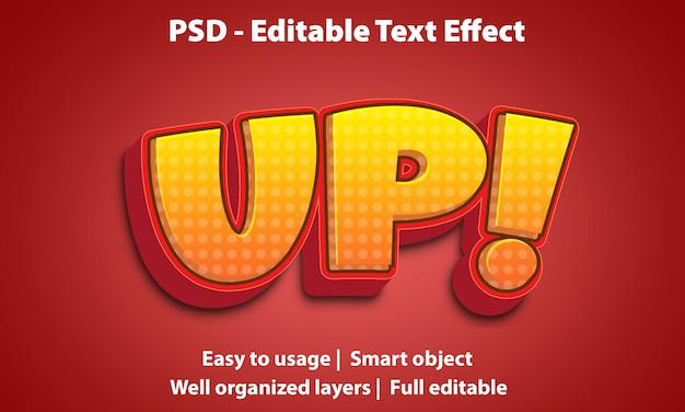 Efeito de texto editável up premium Psd Premium