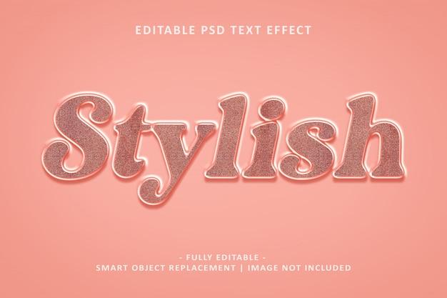 Efeito de texto elegante Psd Premium