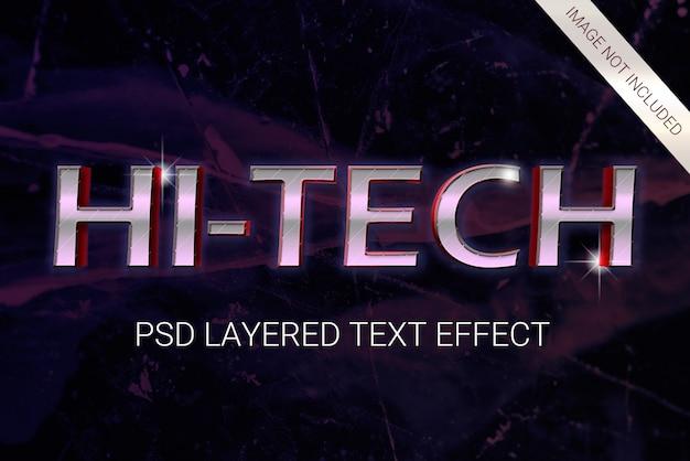 Efeito de texto em camadas de ficção científica dos anos 80 do psd Psd Premium