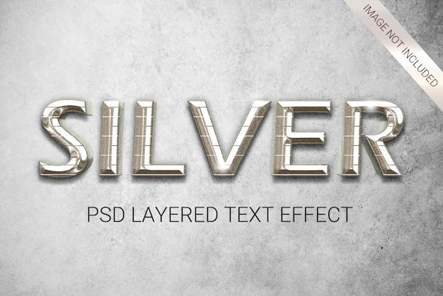 Efeito de texto em estilo prateado Psd Premium