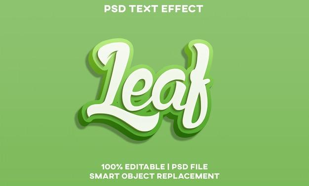 Efeito de texto em folha Psd Premium